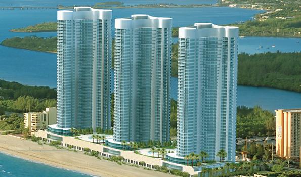 trzy wieżowce Trumpa na Florydzie
