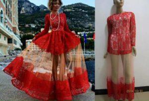 czerwona sukienka z Chin nietrafione zakupy przez internet
