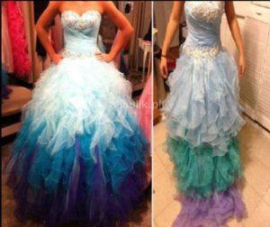 sukienka z falbanką oszustwo podczas zakupów przez internet