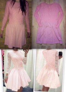 różowa nietrafione zakupy przez internet
