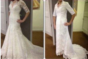 suknia do ślubu nietrafione zakupy przez internet