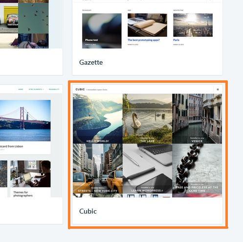 wybór szablonu dla wielu zdjęć na wordpress